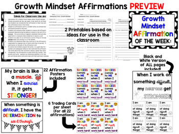 Growth Mindset Activities and Resources BUNDLE