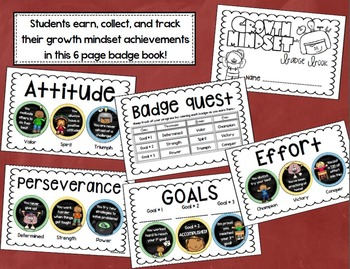 Growth Mindset Badges Coupon Book
