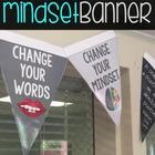 Growth Mindset Banner plus ZenDoodle Coloring Pennants