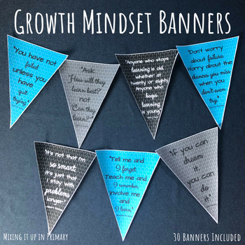 Growth Mindset Banners