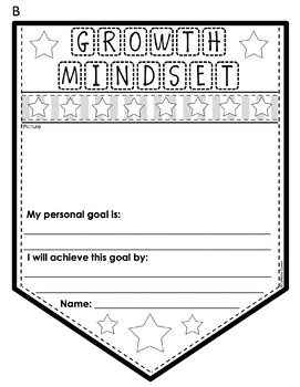 Growth Mindset Banners for Character Education and Goal Setting
