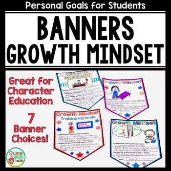 Growth Mindset Banners for Character Education, Positive A