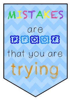 Growth Mindset Banners- Includes 11 Posters