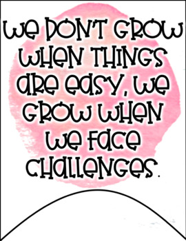 Growth Mindset Banners - Watercolor Theme