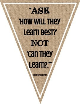 Growth Mindset Banners in Burlap