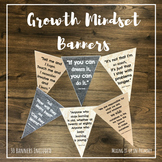 Growth Mindset Banners in Burlap, Denim and Lace