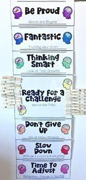Growth Mindset Behavior Clip Chart Board {EDITABLE too!}