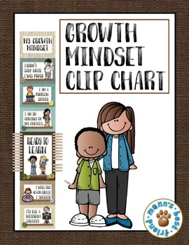 Growth Mindset Behavior Clip Chart - Burlap/Linen