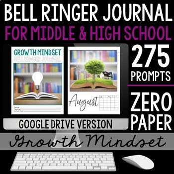 Growth Mindset Bell Ringer Journal BUNDLE: Journal, Digital, & Presentation