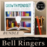Growth Mindset Bell Ringer Journal BUNDLE: Journal, Digita