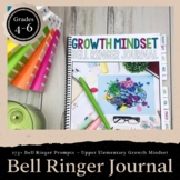 Growth Mindset Bell Ringer Journal for Entire School Year:
