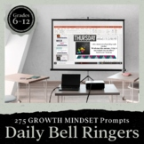 Growth Mindset Bell Ringer Prompts for Entire School Year: Presentation Form