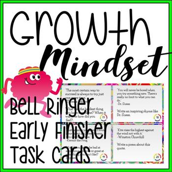 Growth Mindset Bell Ringers Early Finisher Task Cards