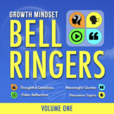 Growth Mindset Bell Ringers   Writing Prompts & Discussion   Morning Meetings