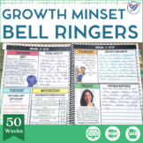 Growth Mindset Bell Ringers and Morning Work EDITABLE DISTANCE LEARNING