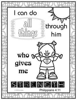 Growth Mindset Bible Promise Coloring - Set 12