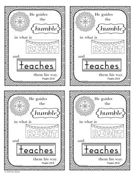 Growth Mindset Bible Promise Coloring - Set 4