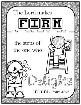 Growth Mindset Bible Promise Coloring - Set 8