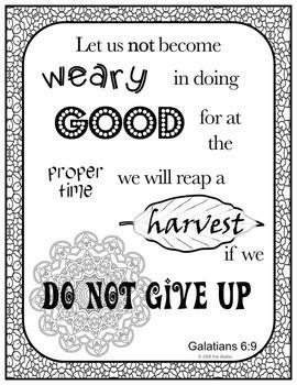Growth Mindset Bible Promises Coloring - BUNDLE