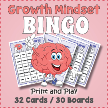 Growth Mindset Bingo Game - You CAN do it!