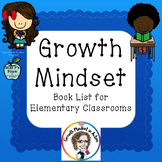 Growth Mindset Book List for Elementary Classrooms