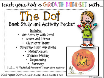 Growth Mindset - The Dot: Comprehension Questions and Stor