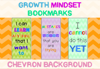 Growth Mindset Bookmarks Chevron