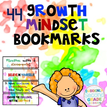 Growth Mindset Bookmarks- Rainbow Splatter