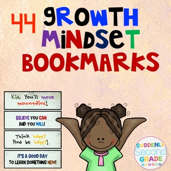 Growth Mindset Bookmarks- Watercolor