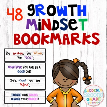 Growth Mindset Bookmarks- Wooden Fence