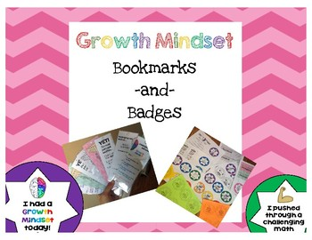 Growth Mindset Bookmarks and Badges ***Rewards for students***