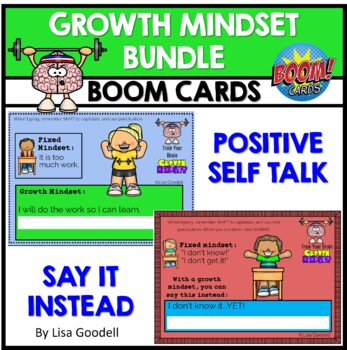 Growth Mindset Boom Card Bundle NO PREP INTERNET ACTIVITIES