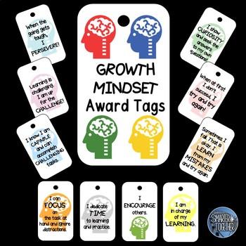 Growth Mindset Award Tags
