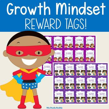 Growth Mindset Brag Tags (Color and Black & White)