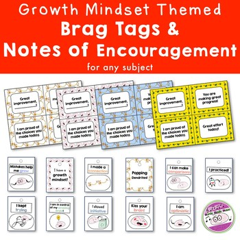 Growth Mindset Brag Tags