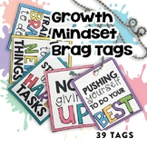 Growth Mindset Brag Tags | Digital Stickers | Digital Brag Tags