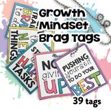 Growth Mindset Brag Tags   Digital Stickers   Digital Brag Tags