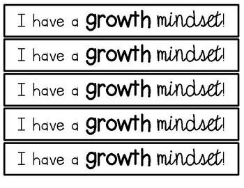 Growth Mindset Brag Tags