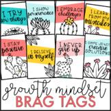 Growth Mindset Brag Tags {Cactus Theme}