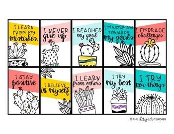 Growth Mindset Brag Tags | Cactus Brag Tags