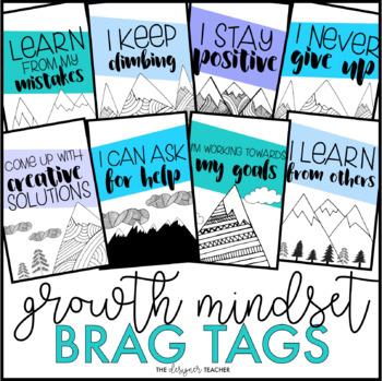 Growth Mindset Brag Tags {Mountain Theme}