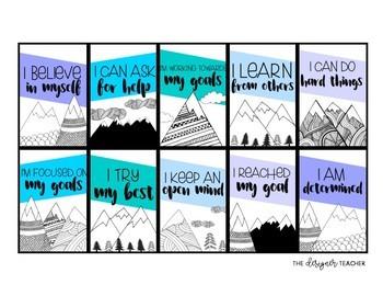 Growth Mindset Brag Tags | Mountain Brag Tags