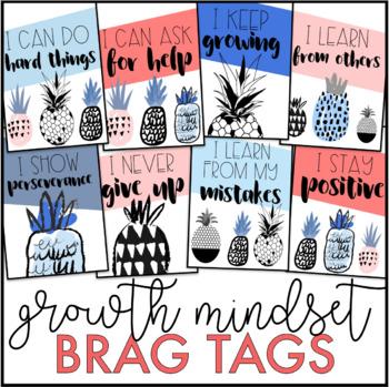 Growth Mindset Brag Tags | Pineapple Brag Tags