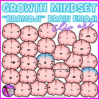Growth Mindset Brain Emoji Clip Art