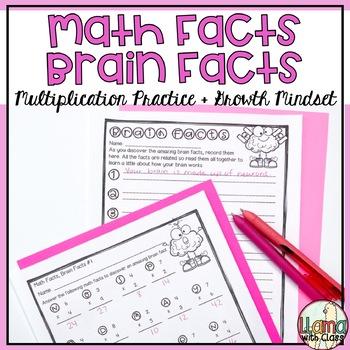 Growth Mindset Brain Facts Through Multiplication Practice