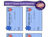 "Growth Mindset ""Brain Gym"" Membership Cards (desk or hook"