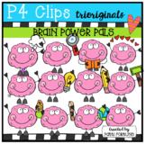 Growth Mindset Brain Power Pals (P4 Clips Trioriginals)