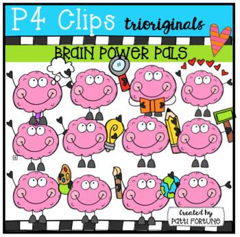 Growth Mindset Brain Power Pals (P4 Clips Trioriginals)