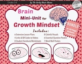 Growth Mindset Brain Unit Lesson Plans *BUNDLE with Bulletin Board*