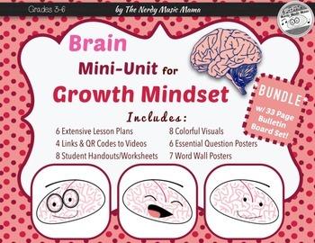 Growth Mindset Brain Unit Lesson Plans *BUNDLE with Bullet